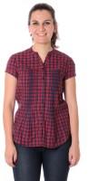 Urban Religion Women's Checkered Casual Shirt - SHTDWPYXPZNE2GH3