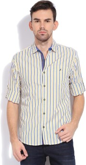 The Indian Garage Co. Men's Striped Casual Shirt
