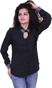 Paris Plush Women's Embellished Casual Shirt