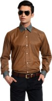 Cotton Crus Men's Solid Formal Shirt