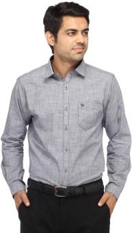 Perrie Curtis Men's Self Design Casual Shirt