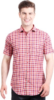 Solemio Men's Checkered Formal, Casual Shirt