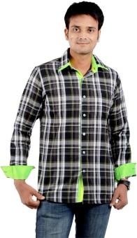 S9 Men Men's Checkered Casual, Festive, Party Shirt