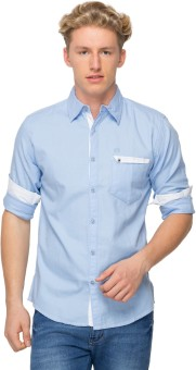 Sleek Line Men's Solid Casual, Festive, Party, Wedding Shirt