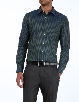 Genesis Genesis Men Striped Party Shirt