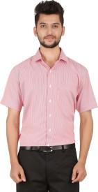 Stylo Shirt Men's Striped Formal Red Shirt