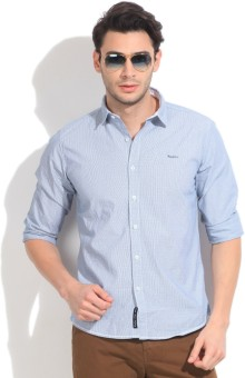 Pepe Jeans Men's Striped Casual Shirt