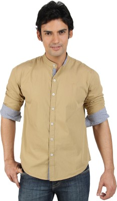 Buy go untucked men 39 s solid casual shirt online at best for Best untucked shirts for men