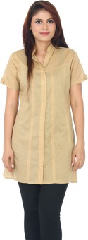 Auraori Basic Delight Women's Solid Casual Shirt