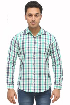 70MM Stylish Men's Checkered Casual Shirt