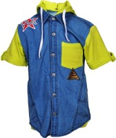 Cool Quotient Dnm Hood Baby Boy's Solid Casual Shirt