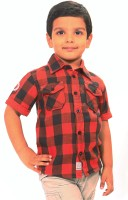 Bio Kid Short Sleeve Baby Boy's Checkered Casual Shirt - SHTE4DHGGFRH7JFB