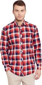 Warrior Men's Checkered Casual Multicolor Shirt