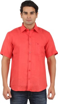 GM Men's Solid Wedding, Casual, Party, Casual, Casual Red Shirt