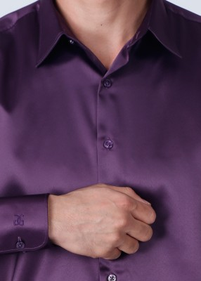 Genesis Genesis Men's Solid Party Shirt (Violet)