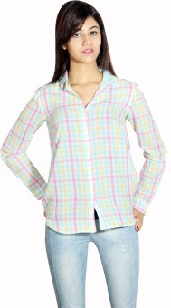 Silly People Lg659mlc Women's Checkered Casual Shirt