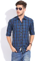 Club Avis USA Men's Checkered Casual Shirt