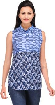 Motif Stylish Women's Printed Casual Shirt