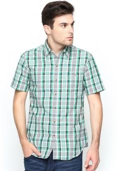John Players Men's Checkered Casual Shirt - SHTE8AJYWMU3KM48