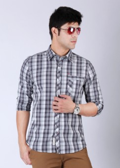 Compare Enryca Men Checkered Casual Shirt: Shirt at Compare Hatke