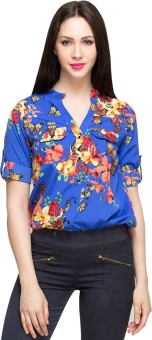 Oxolloxo Women's Floral Print Party Shirt