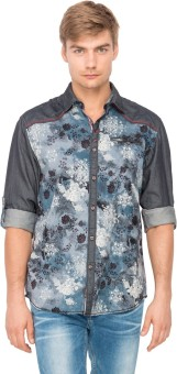 The Indian Garage Co. Men's Floral Print Casual Shirt
