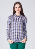 American Swan Women's Checkered Casual Shirt