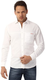 YOO Men's Striped Casual Shirt