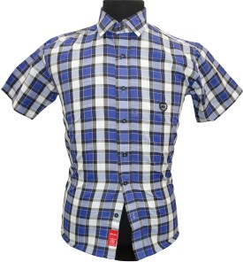 BK Black Men's Checkered Casual Shirt