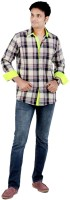 S9 Men Men's Checkered Casual, Festive, Party Shirt