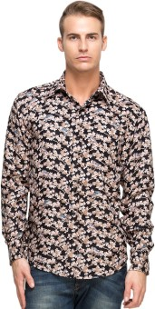 Oxolloxo Men's Floral Print Casual Shirt