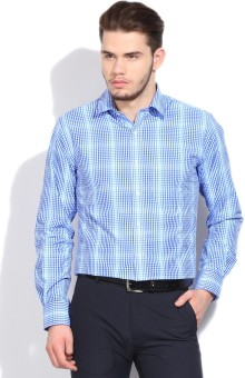 Peter England Men's Checkered Formal Shirt