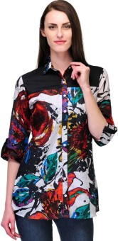 Stilestreet Multi Colored Women's Printed Casual Shirt