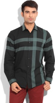 Black Coffee Men's Checkered Casual Shirt