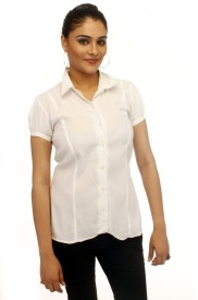 Adam n Eve Women's Solid Formal, Party Shirt