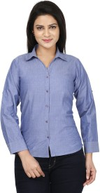 Sunday Casual Women's Solid Formal Shirt