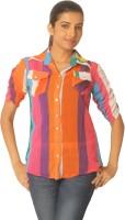 Jazzup Women's Striped Casual Shirt