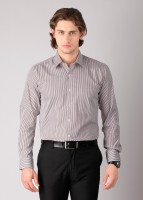 Black Coffee Men's Striped Formal Shirt