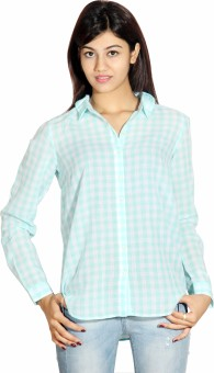 Silly People Checks Women's Checkered Casual Shirt
