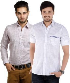 S9 Men Men's Printed Casual, Festive, Formal Shirt Pack Of 2