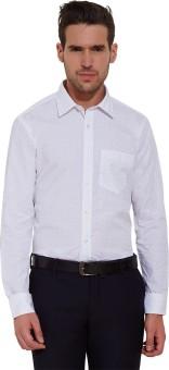 Urban Nomad By INMARK Men's Printed Formal White, Pink Shirt