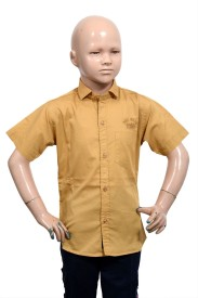 Puppet Nx Boy's Solid Casual Shirt