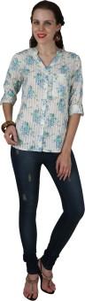 Eva De Moda Women's Floral Print Casual Shirt
