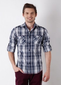 Compare The Indian Garage Co. Men Checkered Casual Shirt: Shirt at Compare Hatke