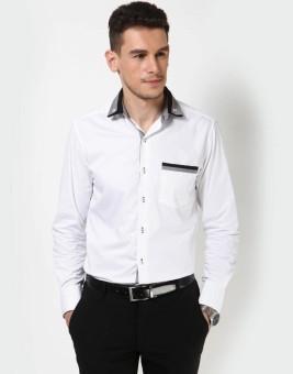 Dazzio Men's Solid Casual White, Black, Grey Shirt