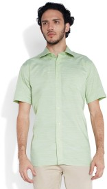 Park Avenue Men's Solid Formal Green Shirt