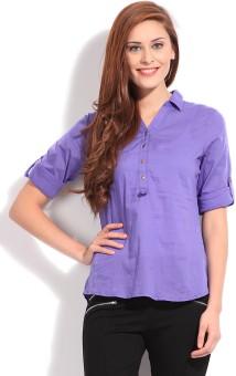 Bossini Women Solid Casual Shirt
