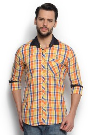 Wajbee Men's Checkered Casual Shirt