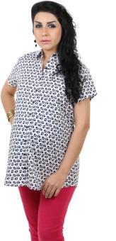 Kriti Western Maternity Woven Printed Nursing Women's Graphic Print Casual Shirt