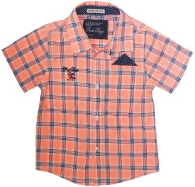 Peach Boys Biker Baby Boy's Checkered Casual Shirt